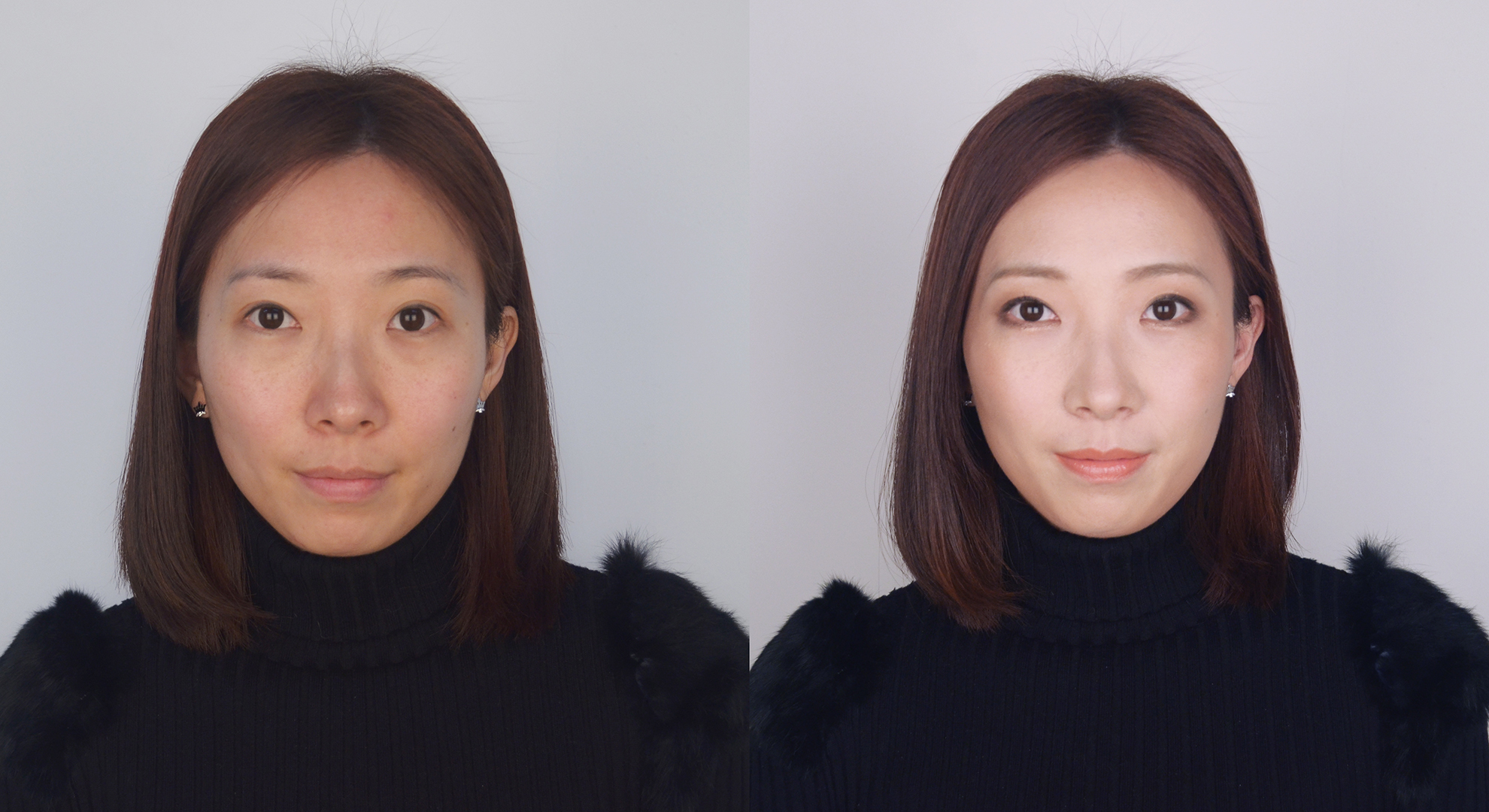 before and after #5 Daily simple makeup