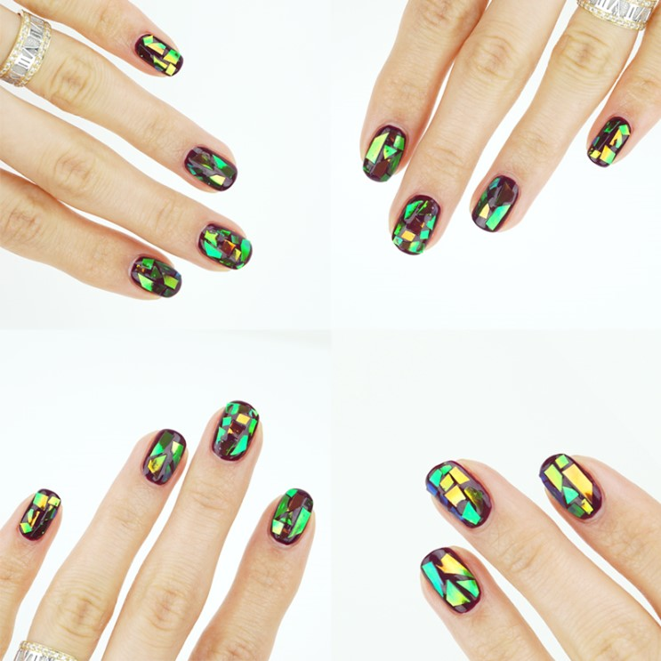 ETUDE HOUSE Play Nail Sticker Cracked Glass Film Hologram review