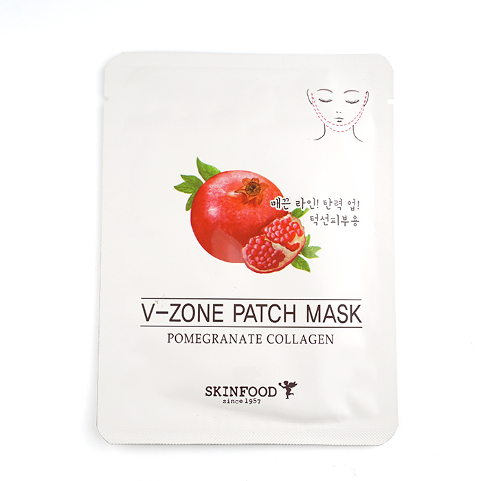 SKINFOOD Pomegranate Collagen V-Zone Patch Mask review