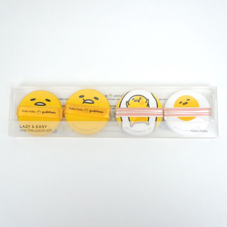 Holika Holika LAZY&EASY Chap Chap Cushion Puff gudetama review