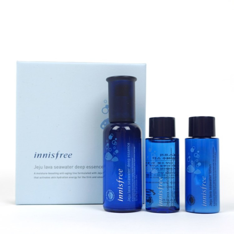 Innisfree Jeju Lava Seawater Deep Essence Special Set review
