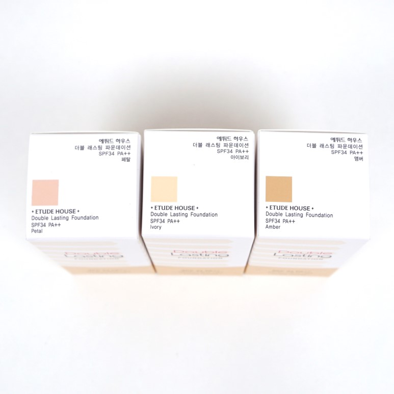 ETUDE HOUSE Double Lasting Foundation New Color review
