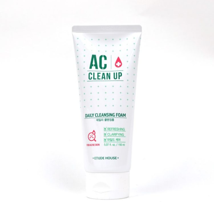 ETUDE HOUSE AC Clean up Daily Cleansing Foam review