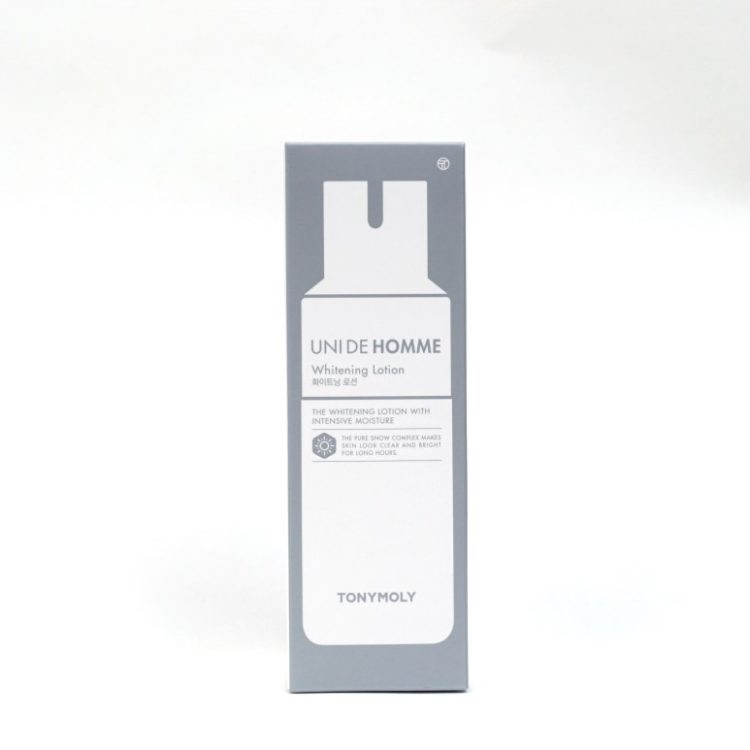 TONYMOLY Uni De Homme Whitening Lotion review