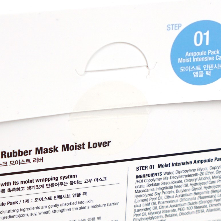 Dr.Jart+ Dermask Rubber Mask Moist Lover review