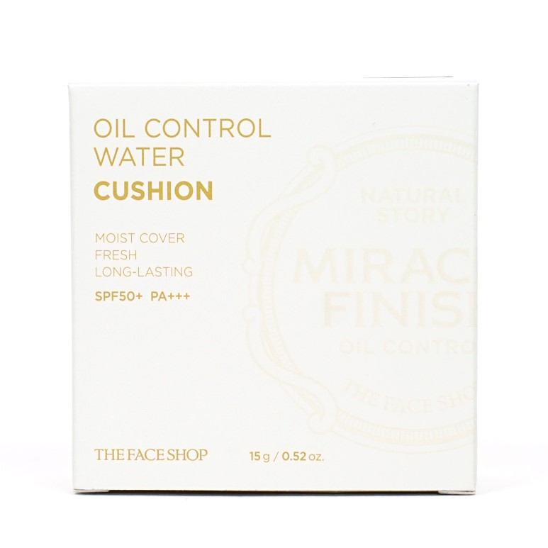 THE FACE SHOP Oil Control Water Cushion Review