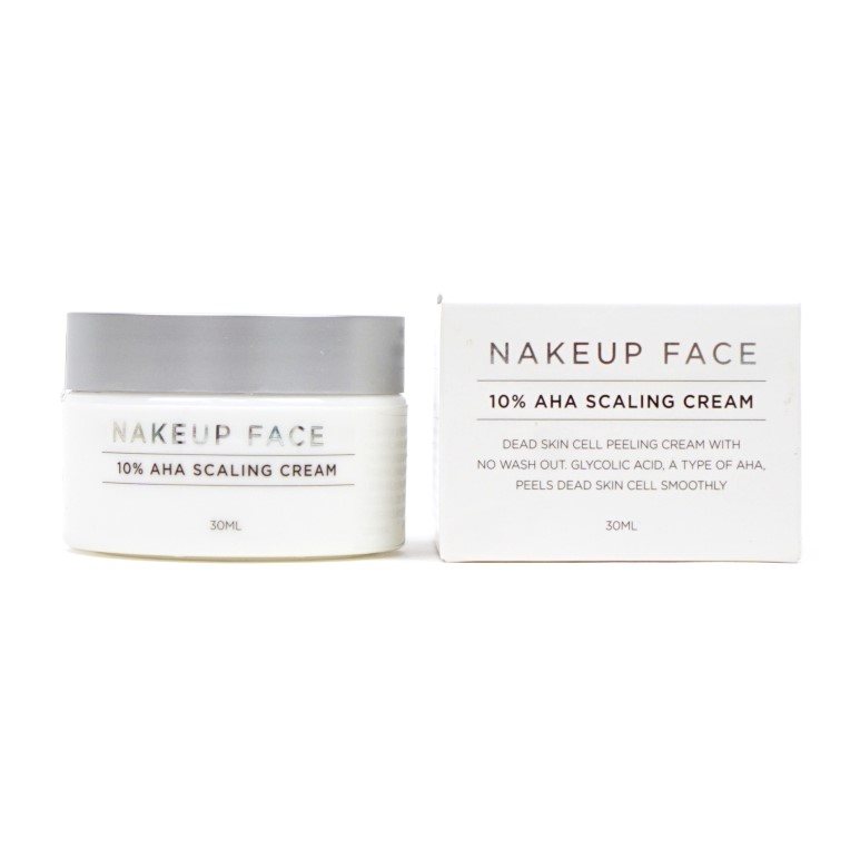 NAKEUP FACE 10% AHA Scaling Cream Review