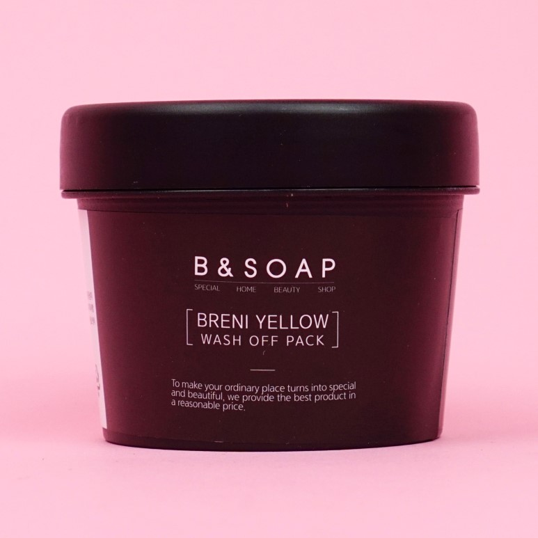 B&SOAP Breni Yellow Wash Off Pack review