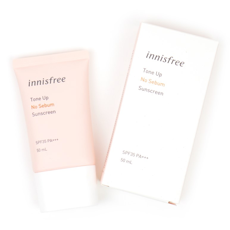 innisfree Tone Up No Sebum Sunscreen review